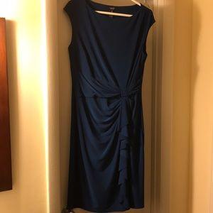 Chaps blue sleeveless dress